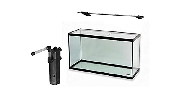 RADYS Acuario PECERA 60 litros con Filtro Y LUZ LED: Amazon.es: Productos para mascotas