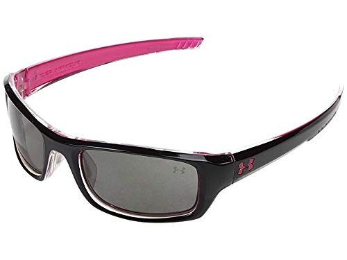 Under Armour Surge Sunglasses, Shiny Black-Magenta / Gray Lens, 55 mm