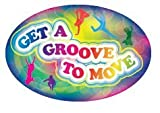 3'' x 2'' Big Oval Nutrition Stickers ''Get A Groove to Move''