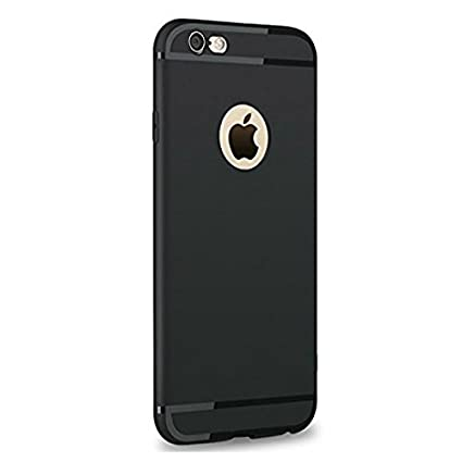 low priced cd857 045d5 Enflamo Soft Silicone Slim Back Cover Case for Apple iPhone 6 & 6S (Black)