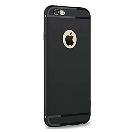 low priced 97277 3a453 Enflamo Soft Silicone Slim Back Cover Case for Apple iPhone 6 & 6S (Black)
