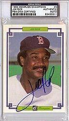 (Jim Rice Signed 1984 Donruss Champions Card #4 - PSA/DNA Authentication - Autographed MLB Baseball)