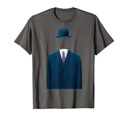 Man In a Bowler Hat, Rene Magritte Artwork T-Shirt