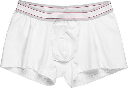 (SPANX for Men Men's Cotton Comfort Trunk White Medium)
