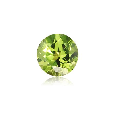 - 0.20-0.30 Cts of 4 mm AA Round Peridot ( 1 pc ) Loose Gemstone