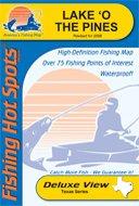 Lake 'O the Pines Waterproof Fishing Map (Texas Fishing Map Series, A424)