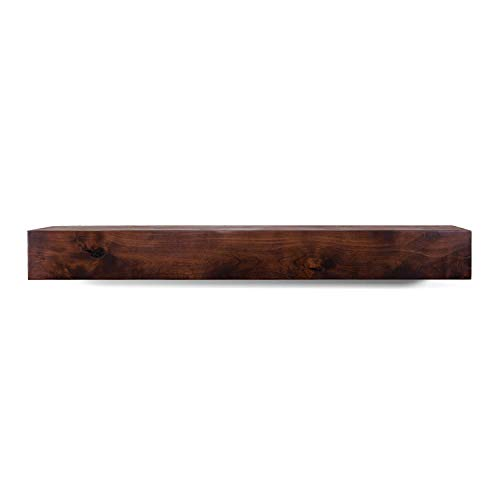- Dogberry Collections Modern Farmhouse Mantel Shelf, Mahogany 60