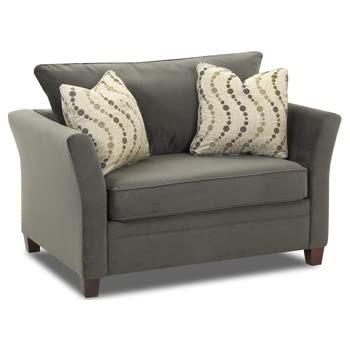 Amazon Com Murano Chair Sleeper Sofa In Belsire Pewter