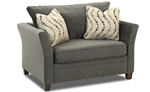Amazon Murano Chair Sleeper Sofa in Belsire Pewter Kitchen & Dining