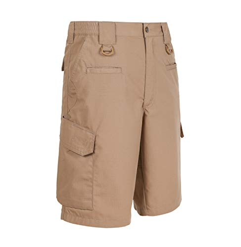LA Police Gear Men Elastic Waistband 8 Pocket Operator Tactical Shorts Brown-44 from LA Police Gear