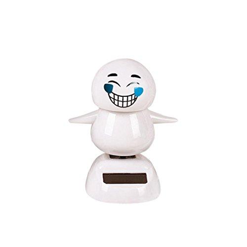 Ratchet Girl Halloween Costume (Christmas Snowman Solar Powered Shaking Head Dancing Animal Swinging Car Decor Emoji,Sulear White D)