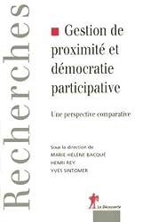 Gestion de proximité et démocratie participative : une perspective comparative