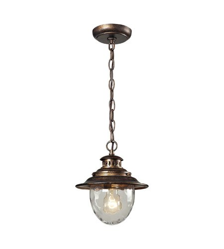 Outdoor Pendant 1 Light with Regal Bronze Finish Medium Base 8 inch 100 Watts - World of Lamp