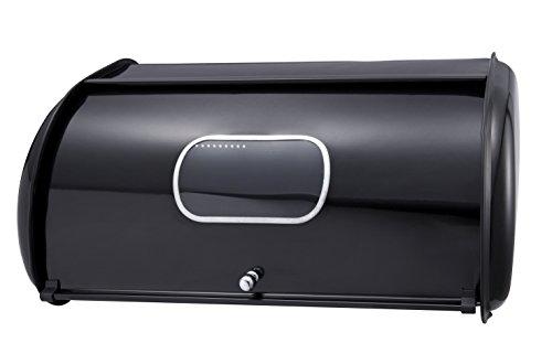 Brotkasten, Brotkiste Brotbox Brot Aufbewahrungsbox (Schwarz)