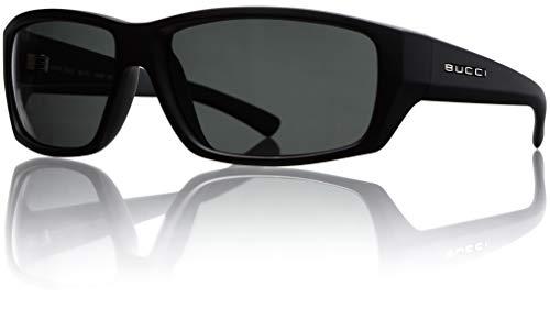Bucci Sunglasses Model 11 Black Matte Polycarbonate Polarized (Grey Polarized ()
