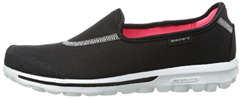 Impress Women's Skechers Black Gowalk white Trainers 4z7Yg7q