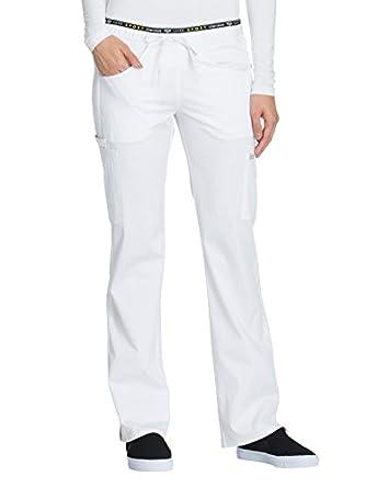 c3c94ae0553 Cherokee Women's Luxe Sport Mid Rise Straight Leg Pull-on Pant, White,  Medium: Amazon.in: Amazon.in