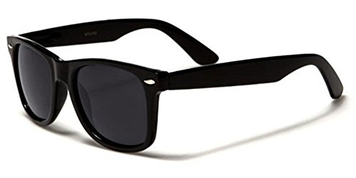 Retro Style Sunglasses Classic 80's Vintage Style Design (Black Matte) -