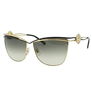 Chopard Palme Verte SCH B26S 301 Women Gold Square Pantos Embellished Sunglasses