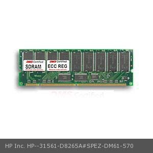 DMS Compatible/Replacement for HP Inc. D8265A#SPEZ NetServer LT6000 128MB DMS Certified Memory PC133 16X72-7 ECC/Reg. 168 Pin SDRAM DIMM 18 Chip (16x8) - DMS