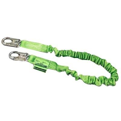 Miller by Honeywell 216M/6FTGN 6-Feet Manyard II Shock-Absorbing Stretchable Web Lanyard with 2 Locking Snap Hooks, Green