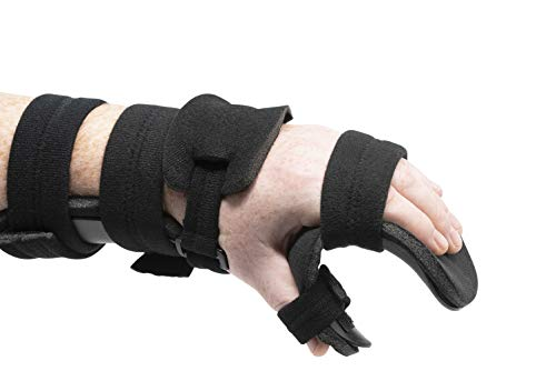 Stroke Hand Splint- Soft Resting Hand Splint for Flexion Contractures, Comfortably Stretch and Rest Hands for Long Term Ease with Functional Hand Splint, an American Heritage Industries (Left, Medium)