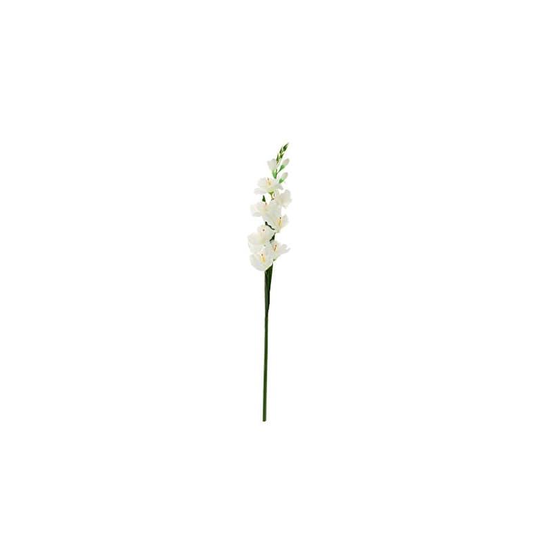 silk flower arrangements loviver 80cm artificial gladiola gladiolus flower stem home garden decor 8 colors - white, 80cm