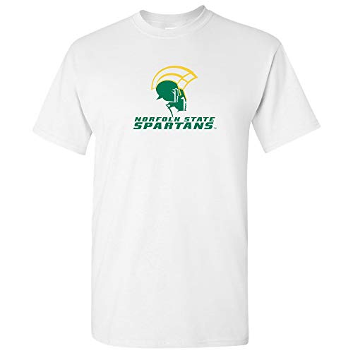 AS02 - Norfolk State Spartans Primary Logo T-Shirt - X-Large - White
