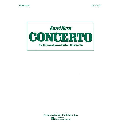Concerto for Percussion and Wind Ensemble (Study Score) G Schirmer Band/Orchestra Series by Karel Husa