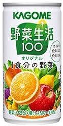 カゴメ 野菜生活100 オリジナル 190g缶×30本入×(2ケース)