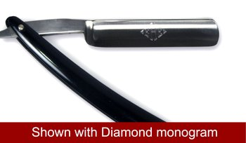 German 5/8'' Half hallow ground, straight razor