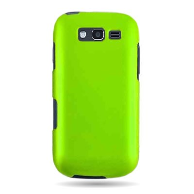 Faceplate Removal - CoverON Hard Snap-on Shield GREEN RUBBERIZED Faceplate Cover Sleeve Case for SAMSUNG T769 GALAXY S BLAZE 4G (T-MOBILE) with TRI Removal Tool Case [WCC128]