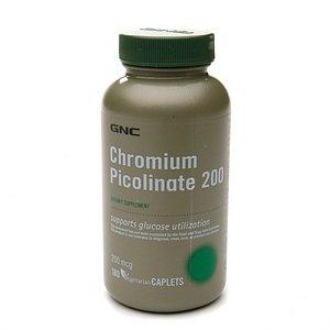 GNC пиколинат хрома 200 Дополнение 180 таблеток