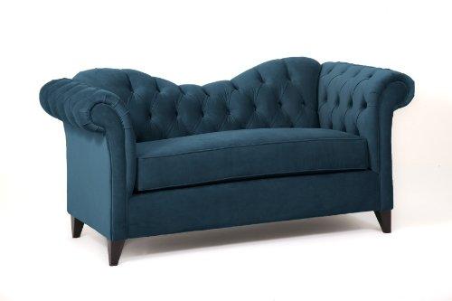 Loni M. Designs Ginger Settee, Dark Blue