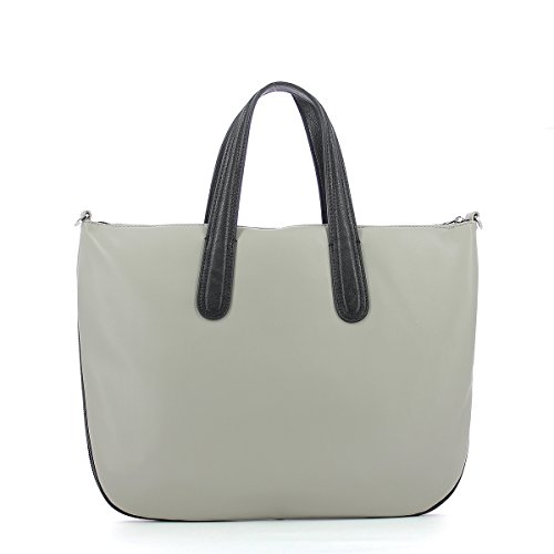 Giorgio Armani borsa shopping taupe con tracolla