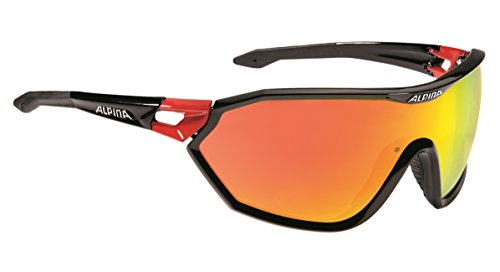Alpina Men's Pro Line S _ way cm Sunglasses, Pro Line S_Way Cm, black / red, One - Alpina Sunglass