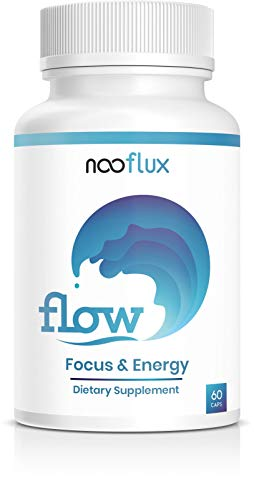 The Flow State Supplement - Increase Focus, Energy, Mood & Mental Clarity - Great for Yoga, Meditation, PreWorkout - Rhodiola Alpha GPC L Theanine ALCAR - Flow by Nooflux