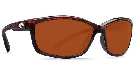 Costa Del Mar Manta Sunglasses, Tortoise, Copper 580P Lens