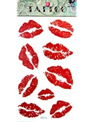 SPESTYLE waterproof non-toxic temporary tattoo stickersnew design red lip temporary temporary -