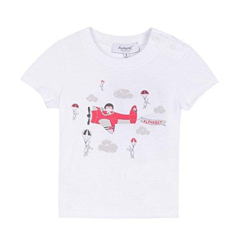 Up shirt Blanc Above Bébé T blanc Garçon Alphabet F4dH1Bd