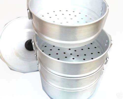 Cooking & Dining 3.5 Inch Depth Each Strainer Zmatoo Aluminum 3 Tier Steamer Small 500 ml Each Strainer Cooking appliances Tamale Steamer Diameter 8 Inch Steamers