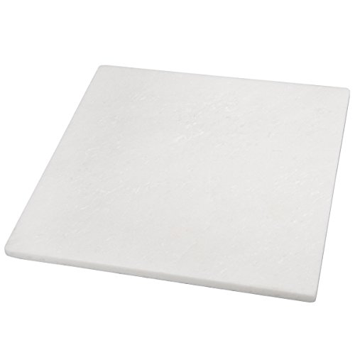"Creative Home Natural Stone White Marble 12"" Square Cheese Board, Pastry Board, Cutting Board"