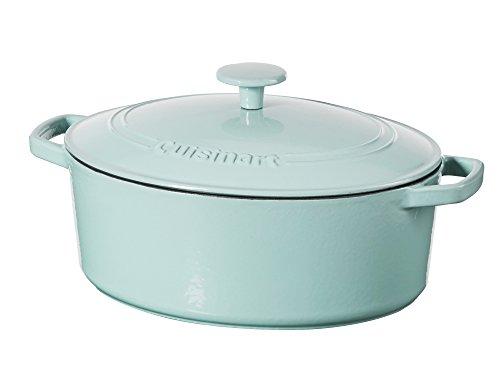 Porcelain Blue Light (Cuisinart 5.5 Qt. Casserole Cast Iron, Light Blue)