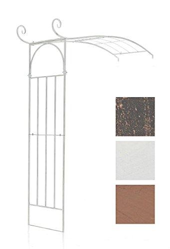 CLP Rosenbogen JASMIN BIG halbrund, zur Wandbefestigung, Eisen, Höhe 230 cm, Breite 180 cm, Tiefe 60 cm antik weiß