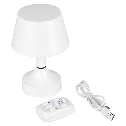 USB Recargable LED Escritorio de luz nocturna Lámpara de Mesa Dormitorio Dimmable Lighting Control Remoto Para Recibidor...