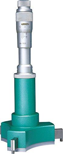 INSIZE 3227-202 Micrometro interno de 3 puntos con anillas de ajuste 12 mm-20 mm, graduaci/ón 0,005 mm