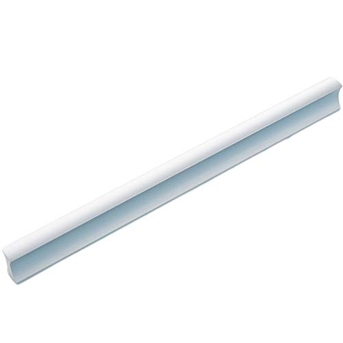 WYANAN Bow Cabinet Door Handle Cabinet American Wardrobe Cupboard Door Aluminum White Drawer Handle Modern Simple Kitchen Cabinet Space Aluminum Single Hole Handle, [Pitch 160Mm/6 Inch] - 5 Pack