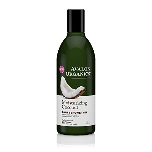 - Avalon Organics Moisturizing Coconut Bath & Shower Gel, 12 Fluid Ounce