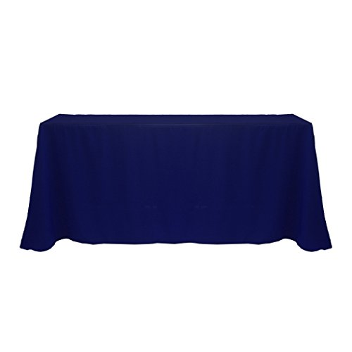 Ultimate Textile (20 Pack) 90 x 132-Inch Rectangular Polyester Linen Tablecloth with Rounded Corners - for Wedding, Restaurant or Banquet use, Deep Royal Blue by Ultimate Textile