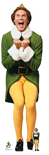 STAR CUTOUTS SC1289 Official Buddy The Elf (Will Ferrell) Christmas Party Lifesize Cardboard Cutout Height 187cm, Multicolour]()